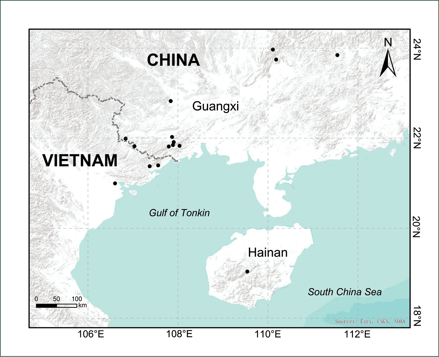 Northern Vietnam Map.Selaginella Guihaia Selaginellaceae A New Spikemoss Species From